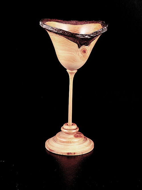 Thin Stem Goblet with a ring on the stem