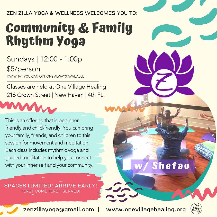 Sunday Afternoons- Community & Family Rhythm Yoga