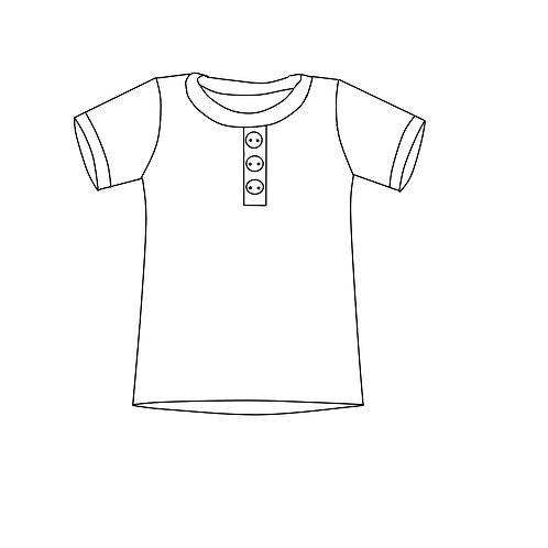 Basic Shirt mit Knopfleiste