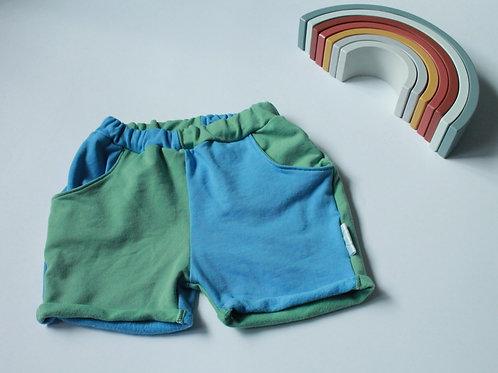 Shorts mit Taschen I Colourblock I Gr.86/92