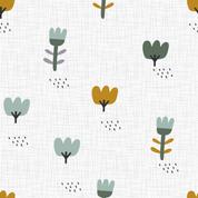Blumenwiese weiß- ocker