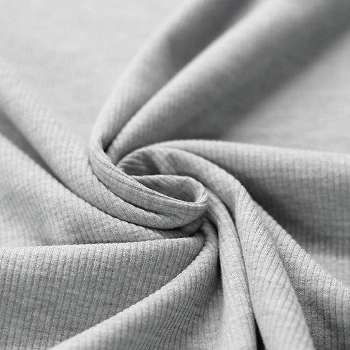 Rippstrick Jersey grau