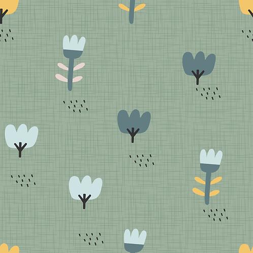 Blumenwiese grün IJersey