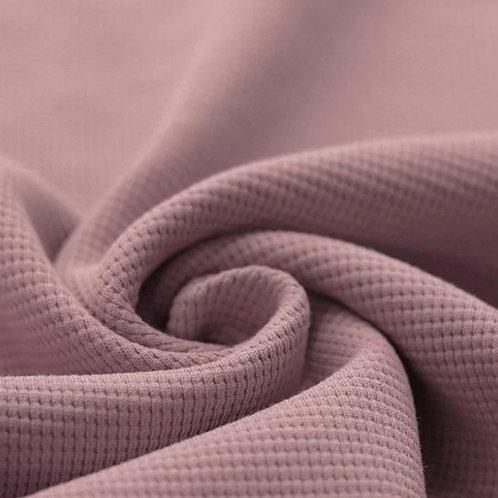 Waffelstrick Jersey rosé