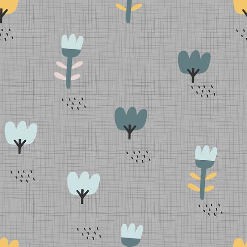 Blumenwiese  grau I BioJersey
