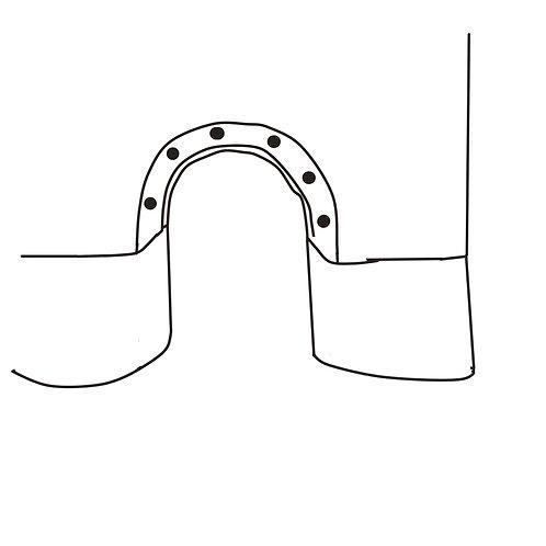 Knopfleiste für Wickelöffnung