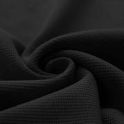 Waffelstrick Jersey schwarz