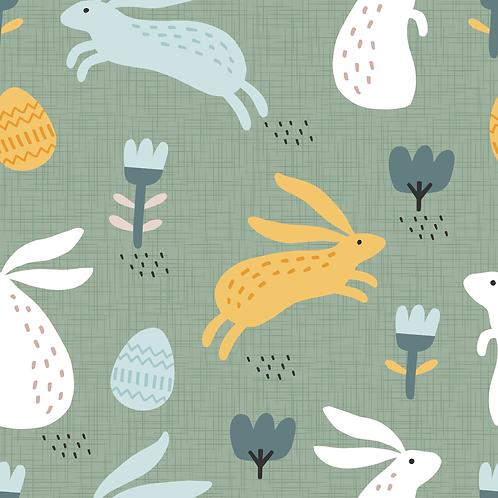 Hasen mit Eier  grün IJersey