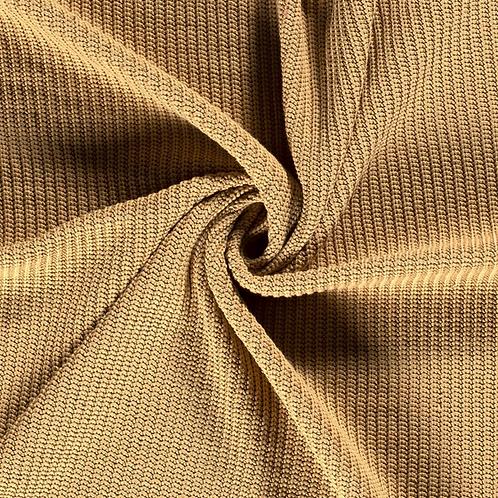 Baumwollstrick sandgelb