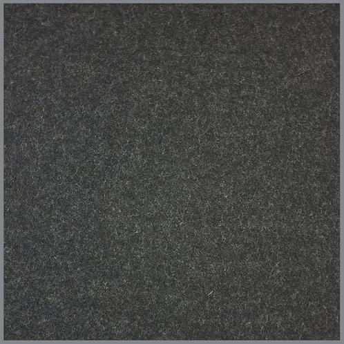Walkloden schwarzgrau 385g/m²