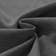 Waffelstrick Jersey dunkelgrau