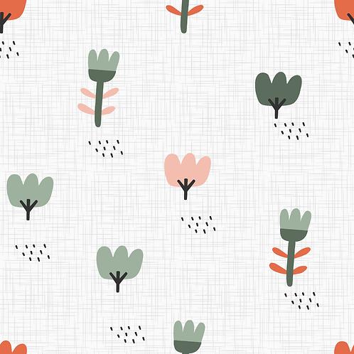 Blumenwiese weiß-grün - orange IJersey