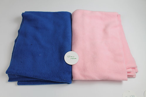 Fleece blau und rosa, je 50cm x 1,50