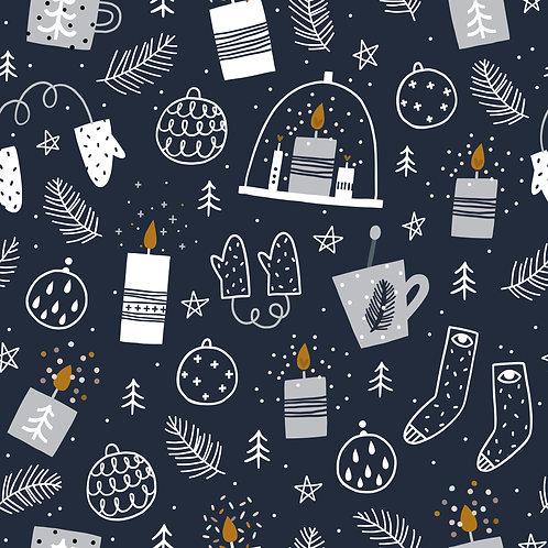 Blaue WeihnachtI Ökoleder I 0,5m