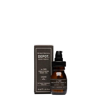Depot 505. CONDITIONING BEARD OIL_Leather & Wood 30ml
