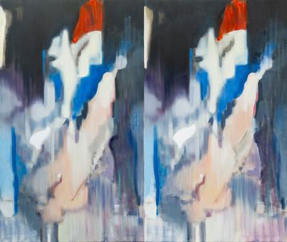 exorcist, 185 x 220 cm, olej na platne.