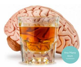El alcohol, el cerebro y la glándula pineal no son amigos.