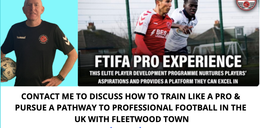 ANNOUNCEMENT: LAUNCHING AN ENHANCED PARTNERSHIP WITH FLEETWOOD TOWN INTERNATIONAL ACADEMY