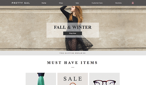 Mode en kleding website templates – Damesmode