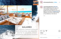 a social media post for a restaurant review