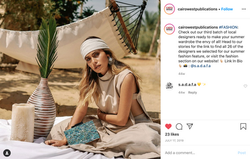 a social media post for a fashion article
