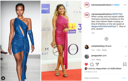a social media post about a celebrity fashion trend