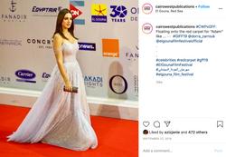 a social media post for red carpet coverage of Gouna Film Festival 2019