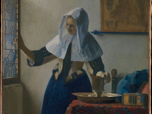 Johannes Vermeer, Young Woman with a Water Pitcher, ca. 1662