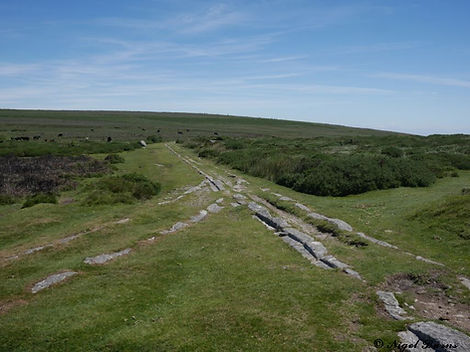 The Haytor Granite Tramway,  junction ne