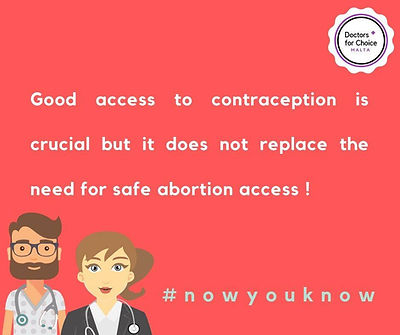 Good access to contraception is crucial but does replace the need for abortion