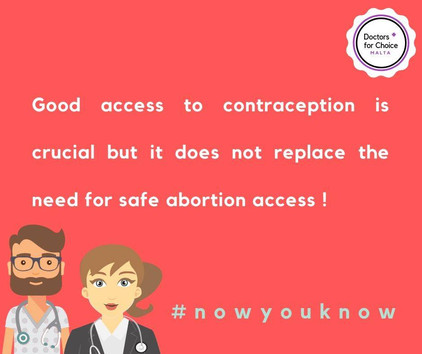 Contraception is crucial but it does not replace the need for abortion access