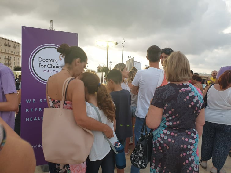 Public at the Doctors for Choice Science in the City Stand