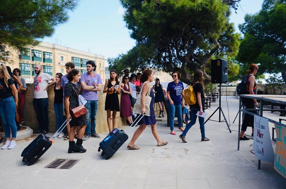 Malta's first pro-choice rally on international safe abortion day