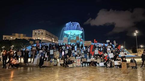 #strajkkobiet Protest in Malta, October 2020