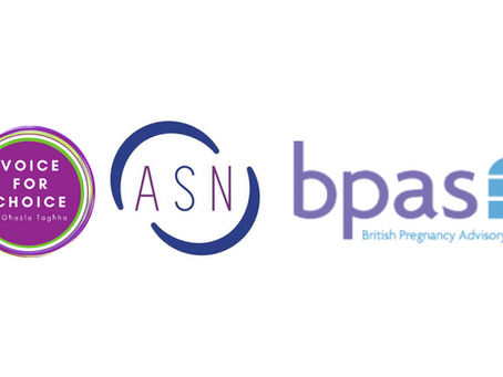 Joint Press Release by Voice for Choice, BPAS, and ASN