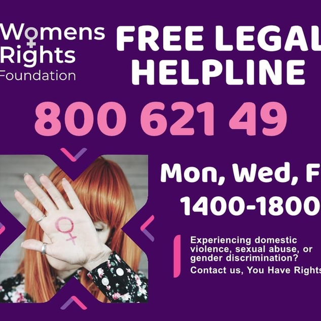 WRF legal Helpline