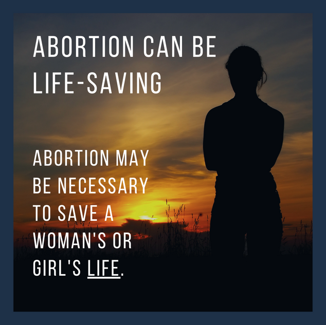 Abortion can be life saving