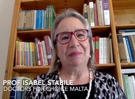 Prof Isabel Stabile: Abortion from a Maltese Gynaecologist's Perspective