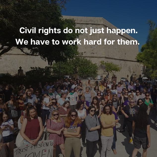 Rally for choice 2019 Malta