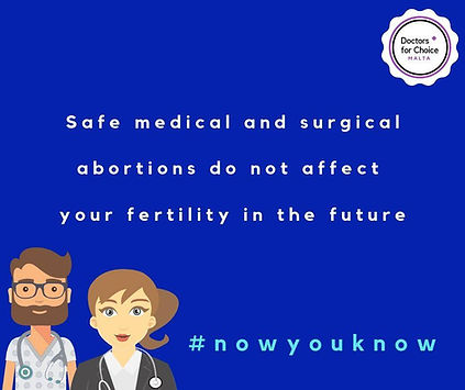 Safe medical and surgical abortions do not affect your fertility in the future. #nowyouknow