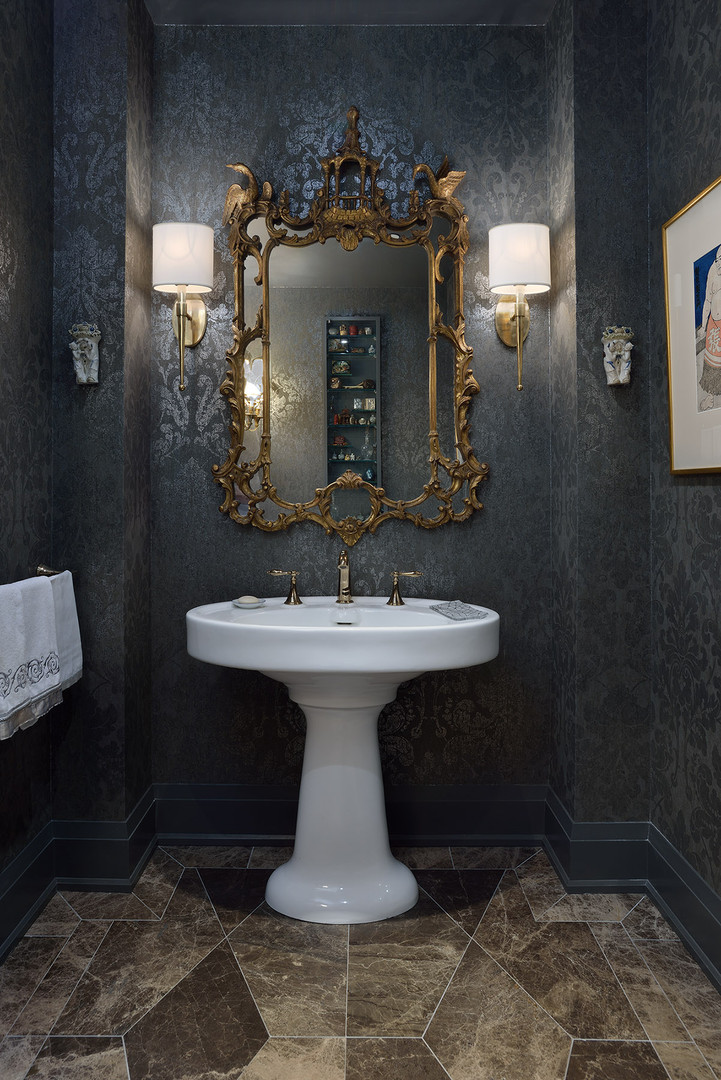 Olde World Powder room