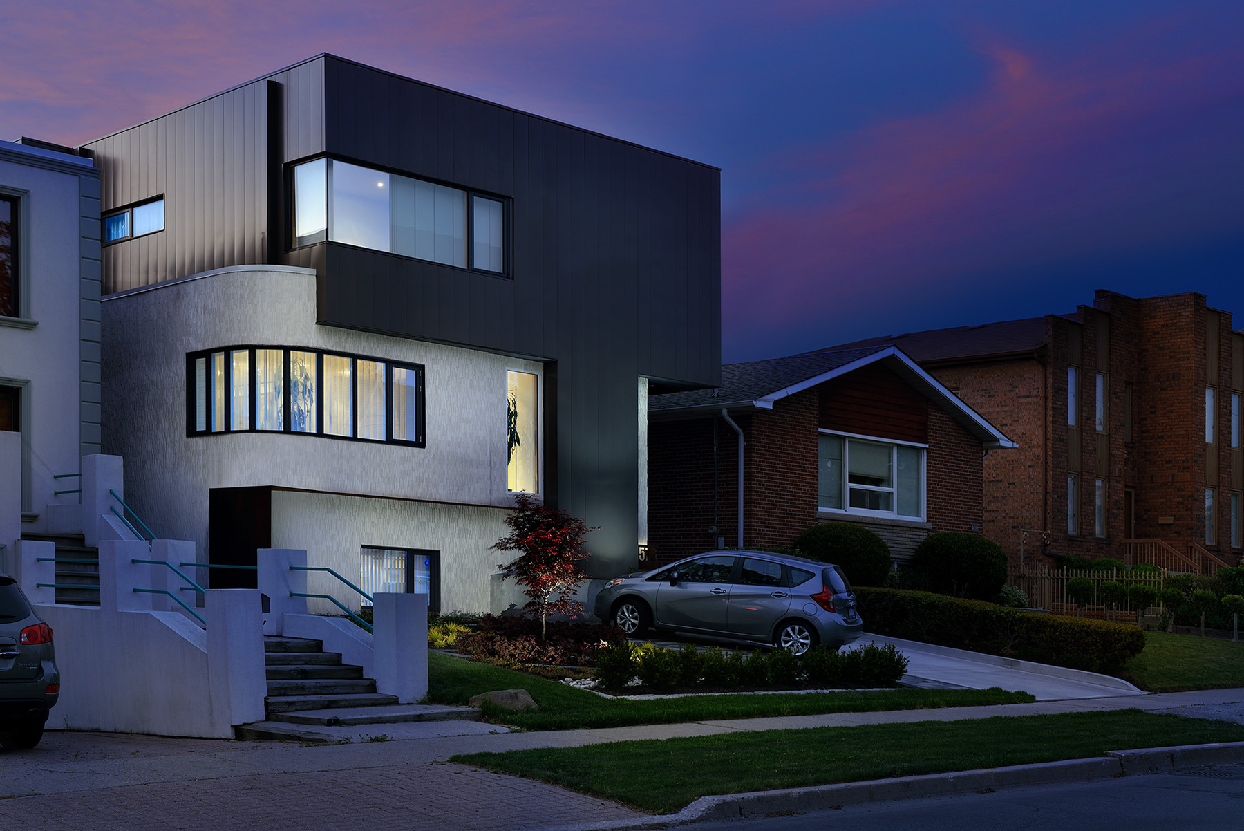 Contemporary Home and Garden Sunset