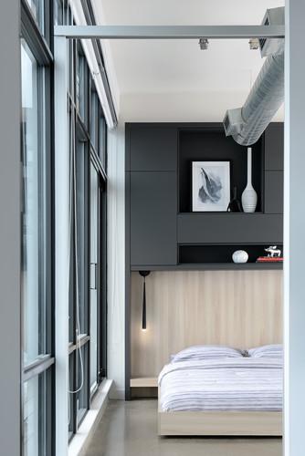 Contemporary Condo Bedroom