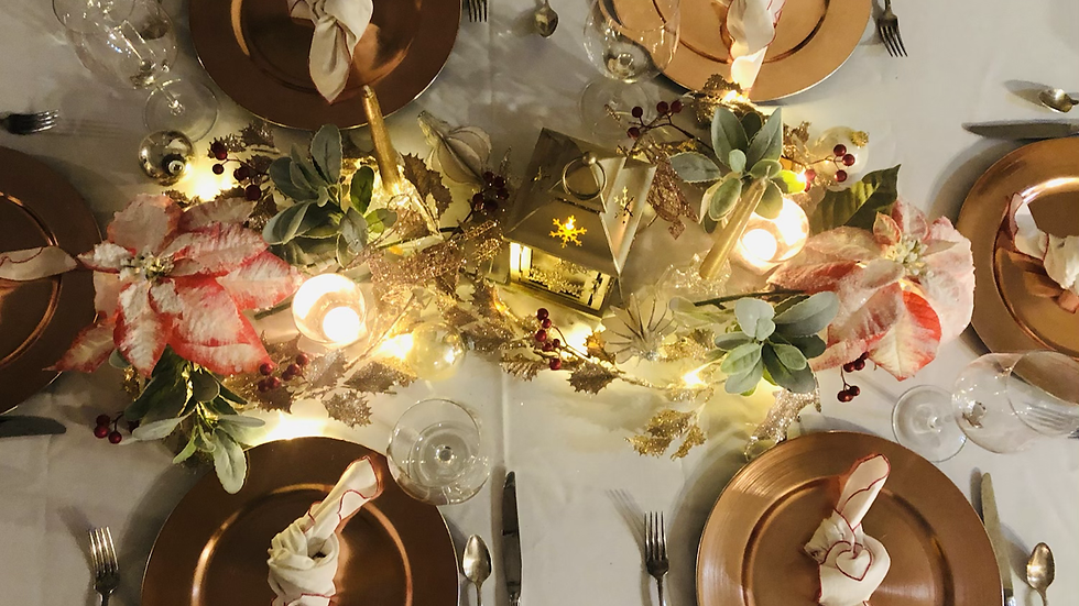 Glamour and Light Tablescape