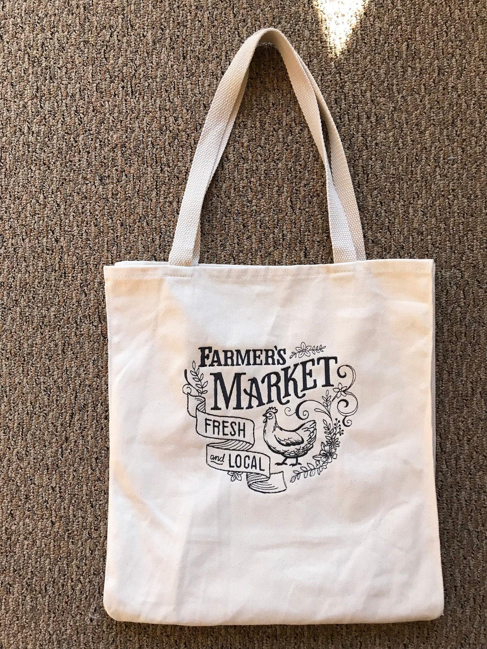 Canvas Tote Bag-Farmers Market