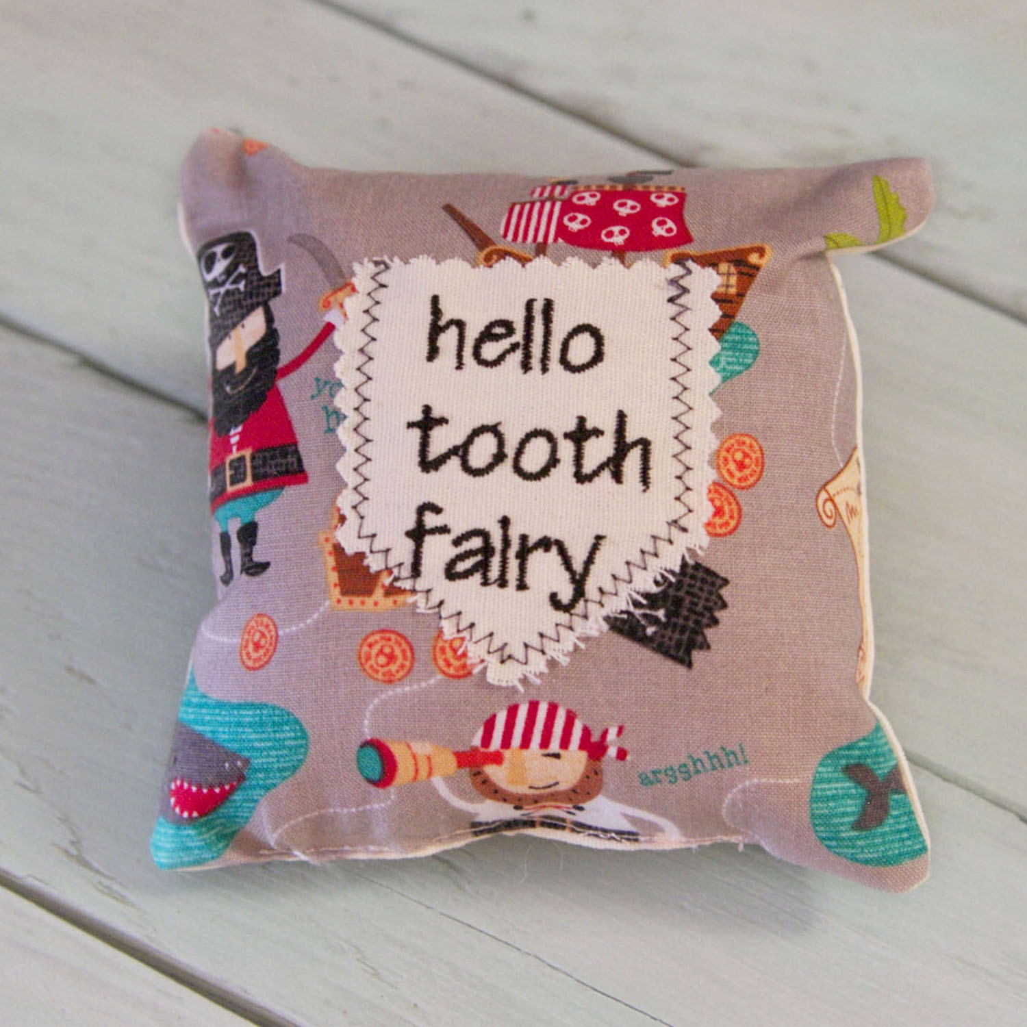 Tooth Fairy Mini Pillow-Pirates
