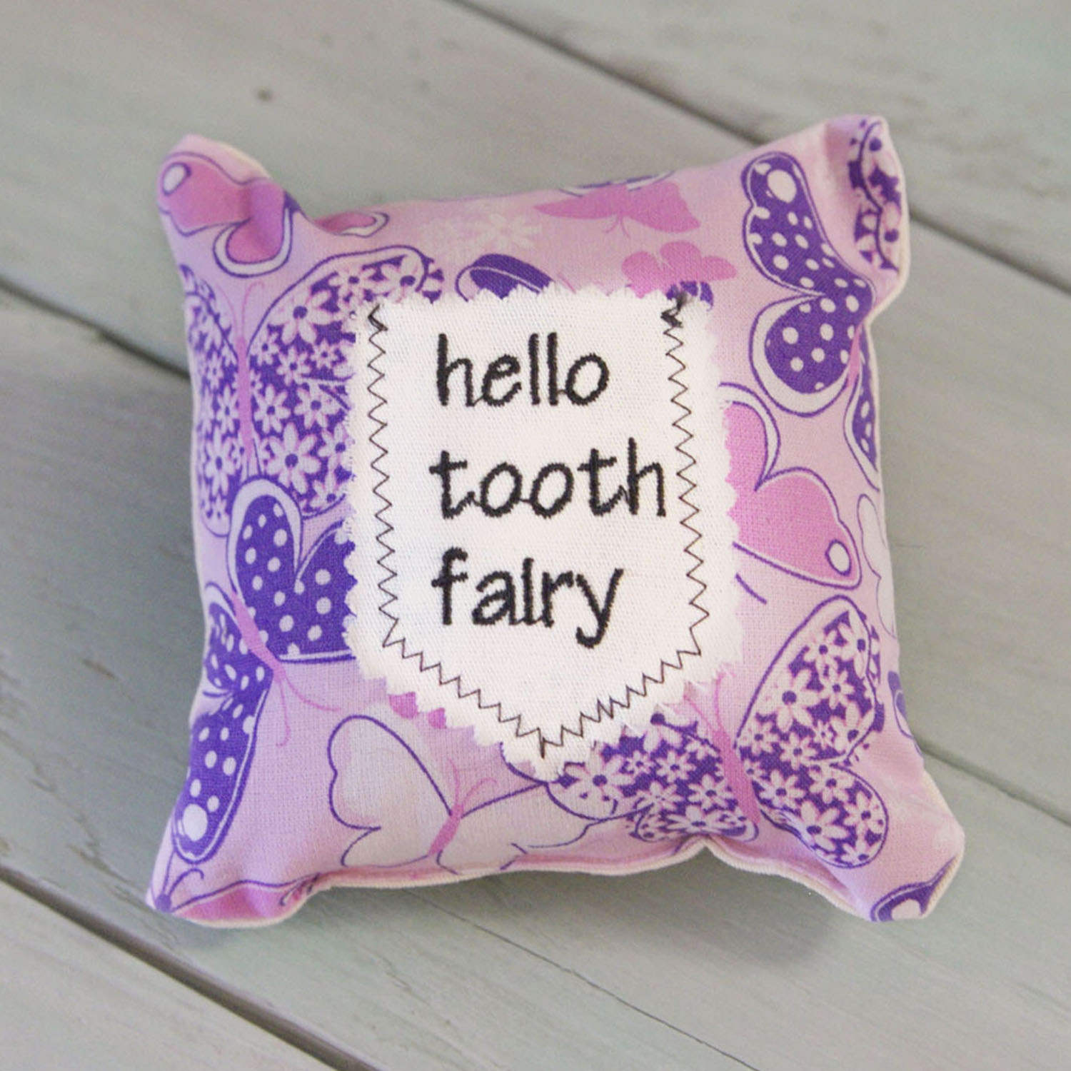 Tooth Fairy Mini Pillow-Butterflies