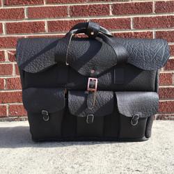 Black Bison Train Bag