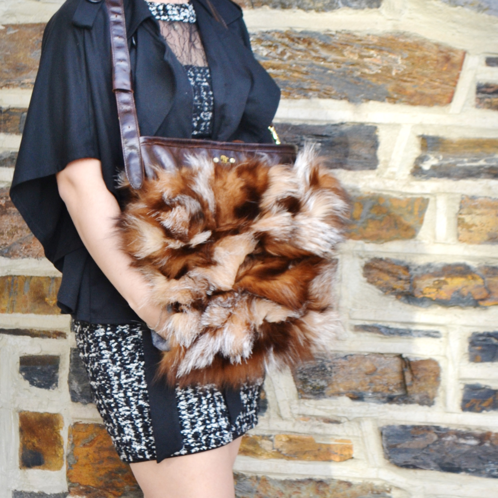 Fox Fur Muff Crossbody