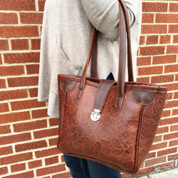 Embossed Lambskin Mini Tiffany Bag